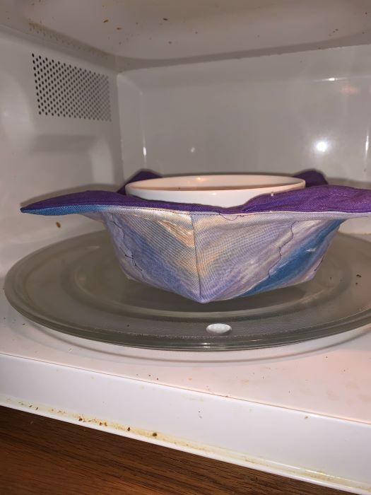 Finished microwave bowl